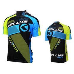 Odzież na rower PRO Race Jersey Short Sleeve Niebieski/Żółty XS