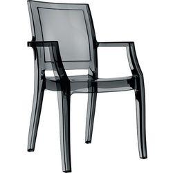 Nowoczesne krzesło do jadalni poliwęglan Arthur Siesta czarne przeźroczyste
