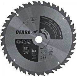 Tarcza do cięcia DEDRA HL31524 315 x 30 mm do drewna z ogranicznikiem posuwu HM + DARMOWY TRANSPORT!