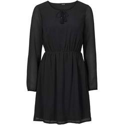 Sukienka szyfonowa bonprix czarny