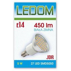 Żarówka - lampa LED 27 SMD5050 E14 JDR 230V 5W biała zimna - biała zimna