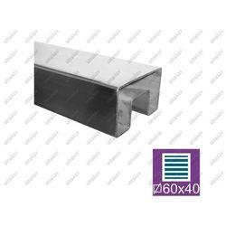 Profil nierdzewny na szkło AISI304, 60x40/24x24mm