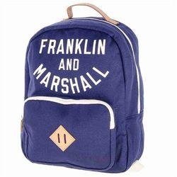 1508b9090a0d7 plecak FRANKLIN & MARSHALL - Varsity backpack - dark blue solid (25)  rozmiar: