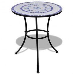 Stolik mozaikowy 60 cm niebiesko-biały Zapisz się do naszego Newslettera i odbierz voucher 20 PLN na zakupy w VidaXL!