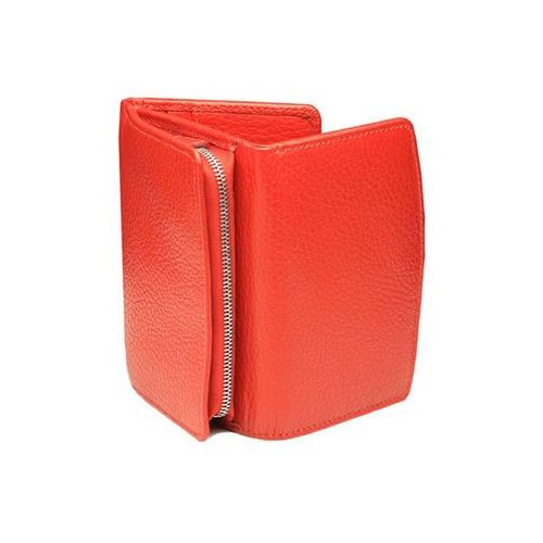513ca48c5fabd Mała Damska Portmonetka RFID Monety Karty Zbliżeniowe Czerwony Skóra -  Czerwony