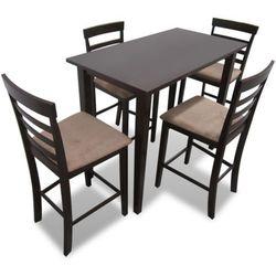 vidaXL Stół wysoki w kolorze brązowym + Wysokie krzesła (x4) Darmowa wysyłka i zwroty