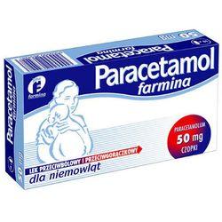 Paracetamol Farmina czop.doodbyt. 0,05 g 10 czop.