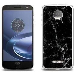 Fantastic Case - Lenovo Moto Z Force - etui na telefon Fantastic Case - czarny marmur