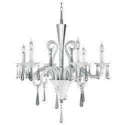 Żyrandol LAMPA wisząca ROSANO 5193602 Spotlight kryształowa OPRAWA świecznikowa crystal chrom biały