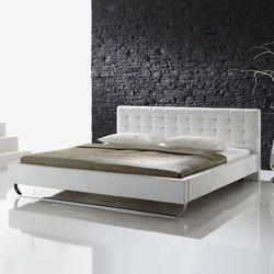 MOLLY łóżko 180 cm tapicerowane białe - biały \ 180 x 200 cm