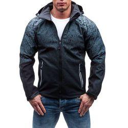 Czarna kurtka męska przejściowa Denley 0013