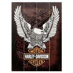 Harley Davidson Eagle - obraz na drewnie