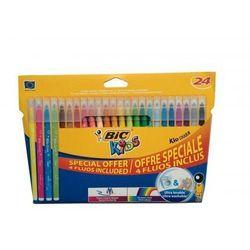 Bic, Flamastry Kid Couleur, 20 kolorów + 4 kolory fluorescencyjne Darmowa dostawa do sklepów SMYK