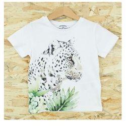 Mayoral t-shirt dziewczęcy Lampart 3028
