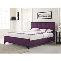Łóżko tapicerowane w kolorze fioletowym ze stelażem 180x200 cm AMBASSADOR