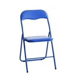 Krzesło składane THOMAS niebieskie