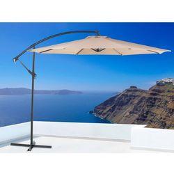 Parasol ogrodowy – mokka – ø 293 cm – na wysięgniku – metalowy - RAVENNA