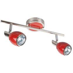 FIFTIES - Listwa z 2 lampami punktowymi Czerwona