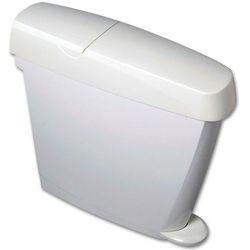 Kosz sanitarny otwierany z przodu BIAŁY Sanibin 15l
