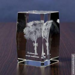 Margerytki 3D - statuetka szklana z Twoją dedykacją. Grawer w szkle GRATIS!
