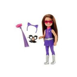 Barbie Chelsea Mała agentka Mattel (fioletowa)