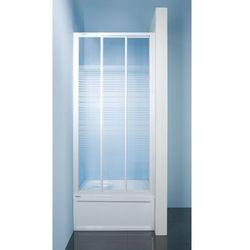 SANPLAST CLASSIC Drzwi przesuwne 110-120cm, szkło sitodruk W4, profile białe DTr-c 600-013-1851-01-410