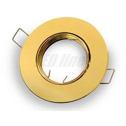 Oprawa halogenowa sufitowa okrągła ruchoma, odlew - złota