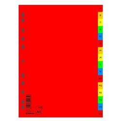 Przekładki plastikowe alfabetyczne DONAU A4 PP A-Z kolorowe