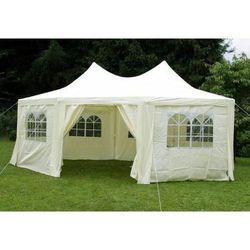 Rovens.pl Pawilon handlowy - namiot ogrodowy - 6m x 4.4m kremowy