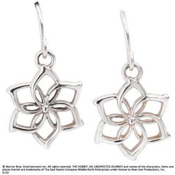 Srebrne Kolczyki Galadrieli z filmu Hobbit - Galadriel Flower Earrings (NN1259)