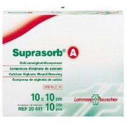 Suprasorb® A - 10cm x 10cm - 1 sztuka - opatrunek jałowy z włókien algianów wapnia