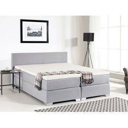 Łóżko kontynentalne 180x200 cm - tapicerowane - PRESIDENT jasnoszare