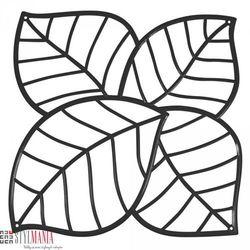 Panel dekoracyjny Koziol Leaf liście czarny 4 szt. KZ-2043526