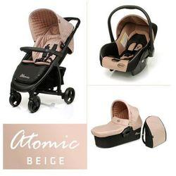 4Baby Atomic wózek dziecięcy wielofunkcyjny 3 w 1 gondola + fotelik Beige