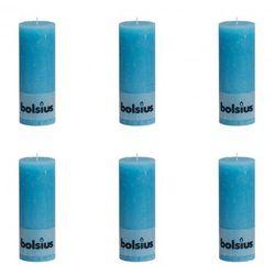 Świece rustykalne, Bolsius (190x68 mm) x6 Niebieski Zapisz się do naszego Newslettera i odbierz voucher 20 PLN na zakupy w VidaXL!