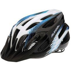 ALPINA FB Junior 2.0 Flash - Kask rowerowy młodzieżowy, 50-55cm - Black-White-Blue (50-55cm)