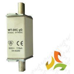 Wkładka topikowa zwłoczna gg WT-00C 100A, bezpiecznik przemysłowy ETI