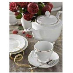 Zestaw kawowy dla 12 osób porcelana MariaPaula Złota Linia
