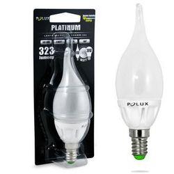 Żarówka SANICO 302236 Polux E14 F40 LED 4.5W 230V płomyk candle biała ciepła