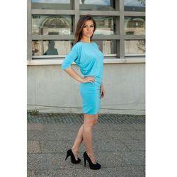 Krótka asymetryczna sukienka Tuba Flexi turkusowa