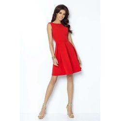 0f2da8525c suknie sukienki czerwona koktajlowa midi sukienka na cienkich ...