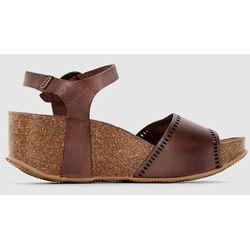 Skórzane sandały na kotrunie Abyway