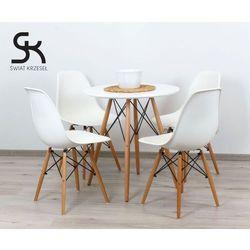 ZESTAW - STÓŁ FI 80 + 4 krzesła DSW