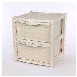 Regał szafka komoda Arianna 2 szuflady kremowy