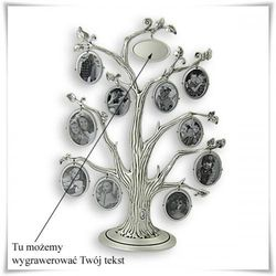 Ramka na zdjęcia Drzewo genealogiczne z możliwością grawerowania dedykacji, życzeń...
