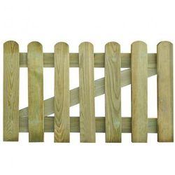 Drewniana furtka ogrodowa 100 x 60 cm Zapisz się do naszego Newslettera i odbierz voucher 20 PLN na zakupy w VidaXL!
