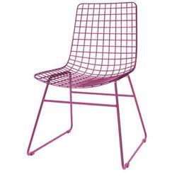 HK Living Krzesło metalowe WIRE marsala FUR0024