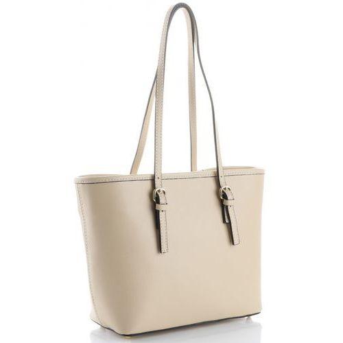 008db6e4c8cd1 Eleganckie i Klasyczne Włoskie Torebki Skórzane marki Genuine Leather  Beżowe (kolory)