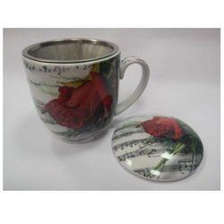 Porcelanowy kubek z zaparzaczem - nuty