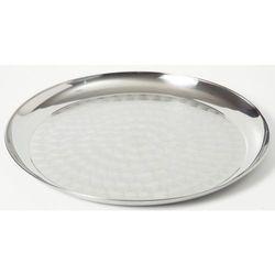 Taca do serwowania - okrągła ze stali chromowej ośrednicy 30 cm